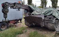 Harckocsi mentő lánctalpas